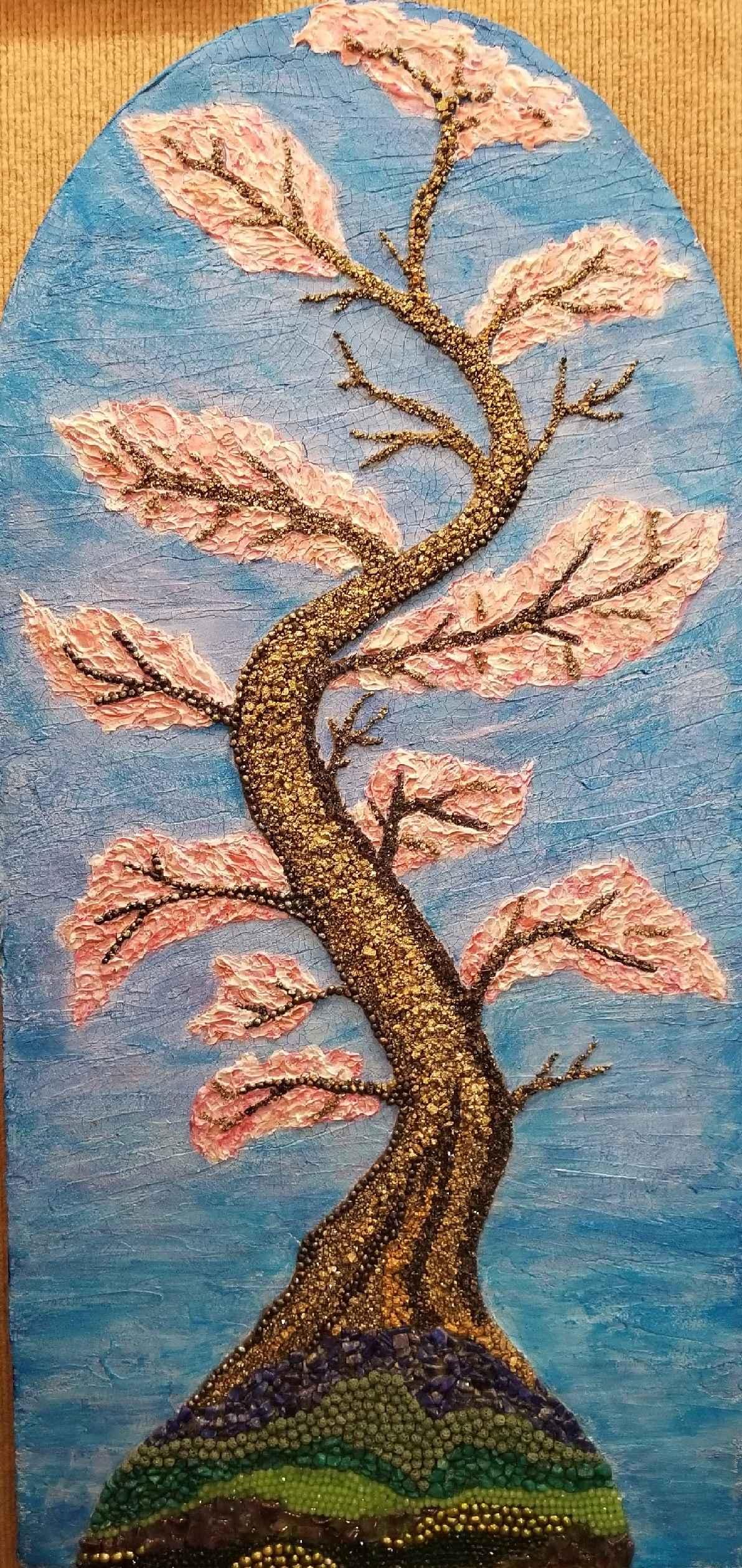Spring II (Blue & Pin... by  Gala Kraftsow - Masterpiece Online