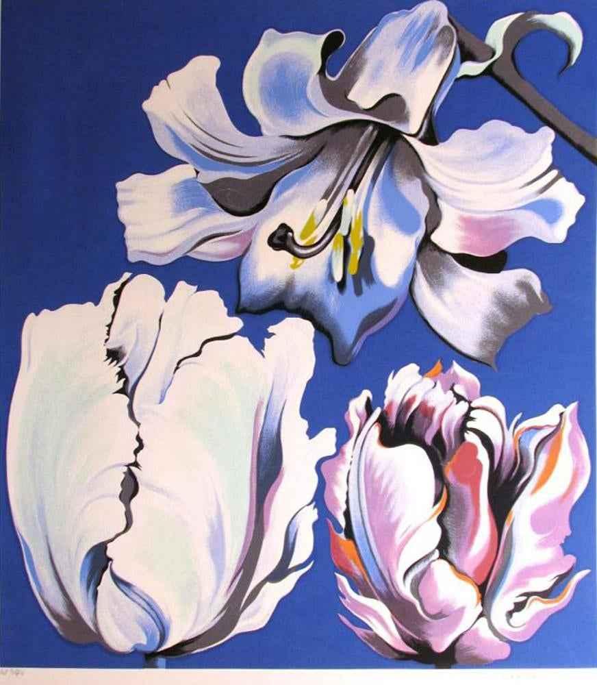 Three Flowers (Tulips... by  Lowell Nesbitt - Masterpiece Online