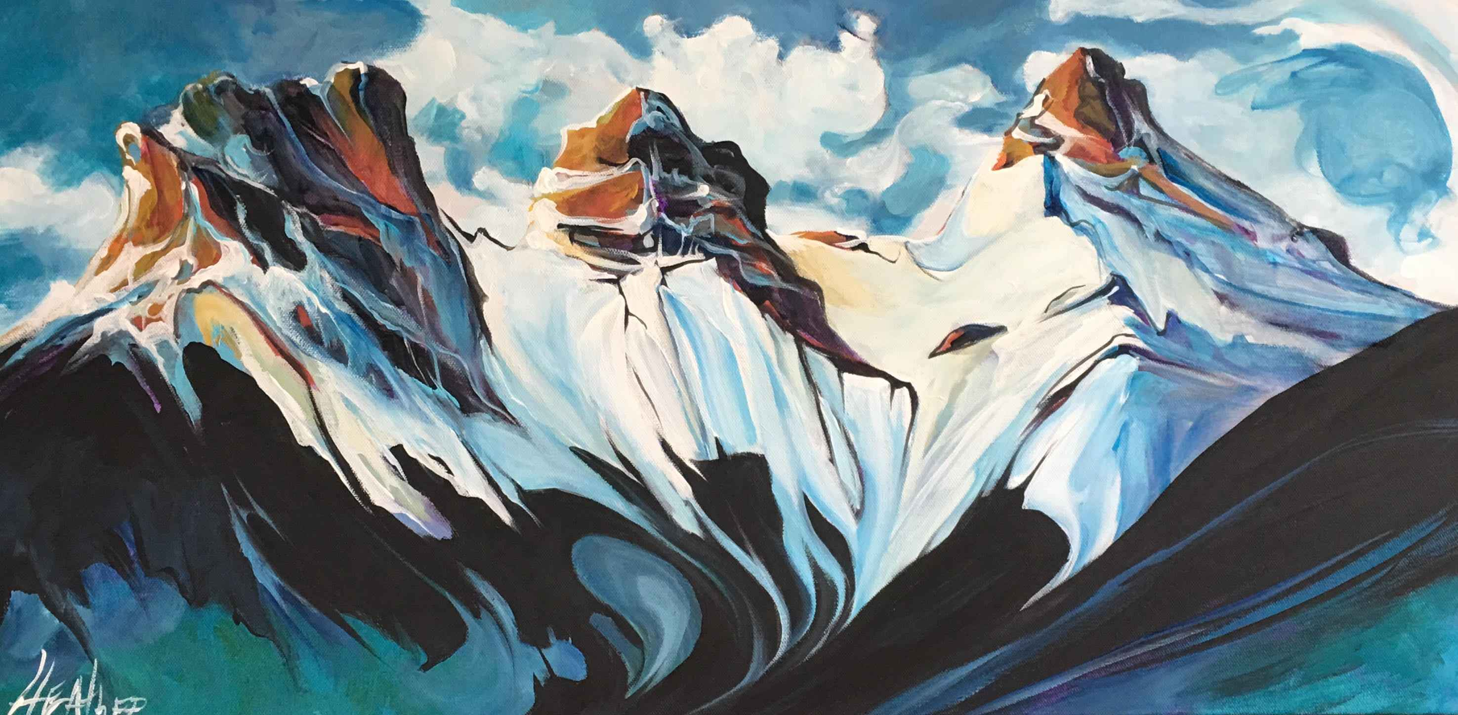 Ice Castles in the Sky by  Heather Pant - Masterpiece Online