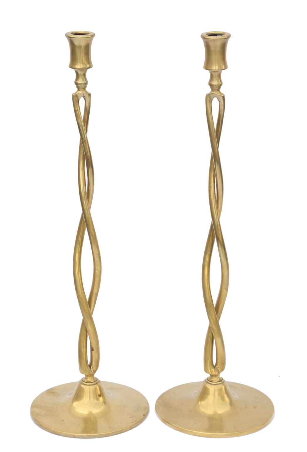 Pair of Braided Brass... by   English - Masterpiece Online