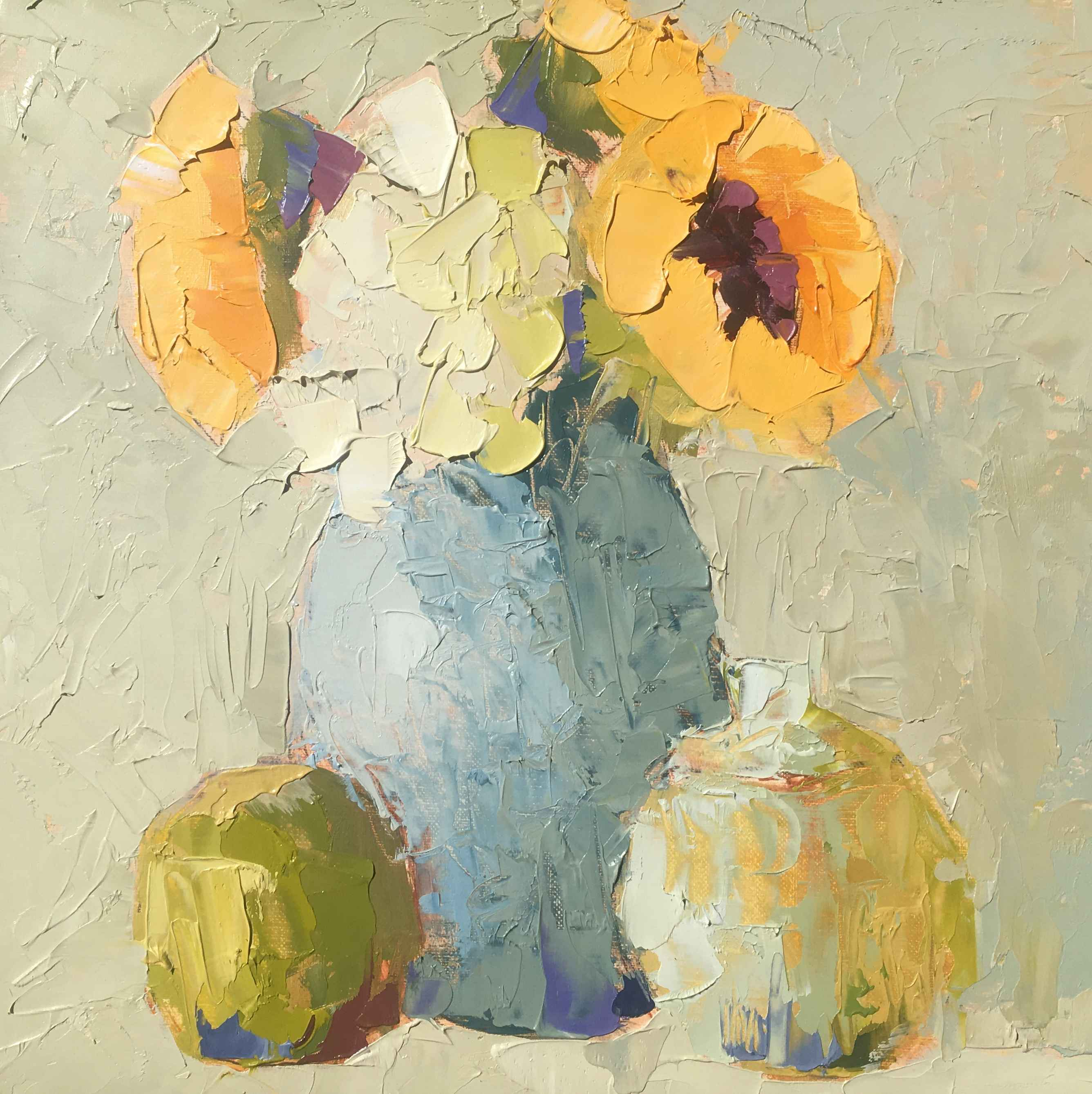 Sunflowers & White Hy... by  Carol Maguire - Masterpiece Online