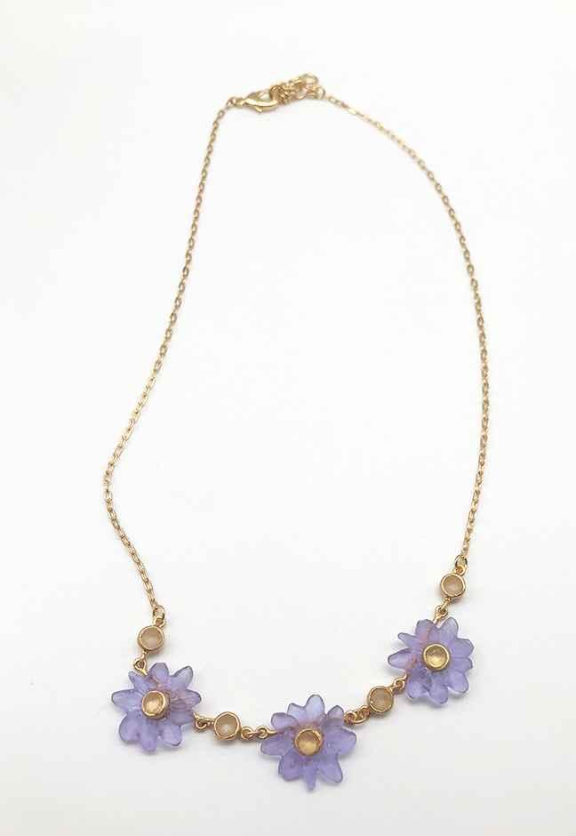 Margarita 3 Flower Necklace 16
