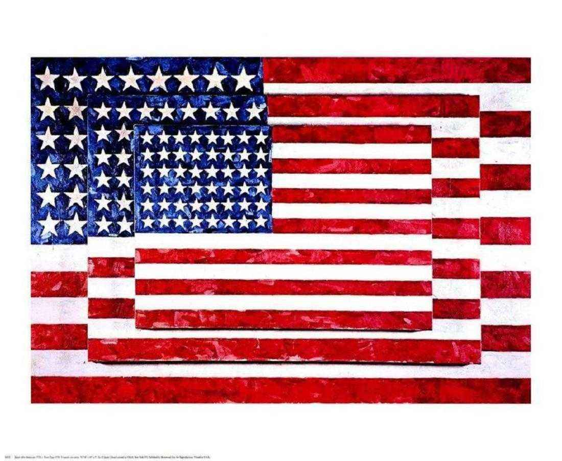 Three Flags by  Jasper Johns - Masterpiece Online