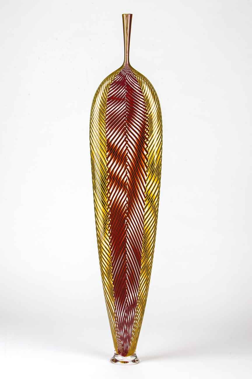 Red and Yellow Z Leaf  by  Dante Marioni