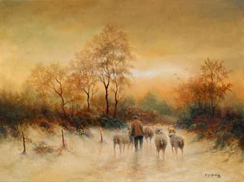 The Vigilant Shepherd by  Roger  Budney - Masterpiece Online
