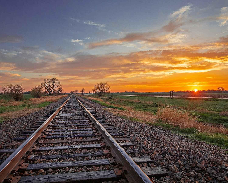 Rails, Sunset, Saline... by  George Jerkovich - Masterpiece Online