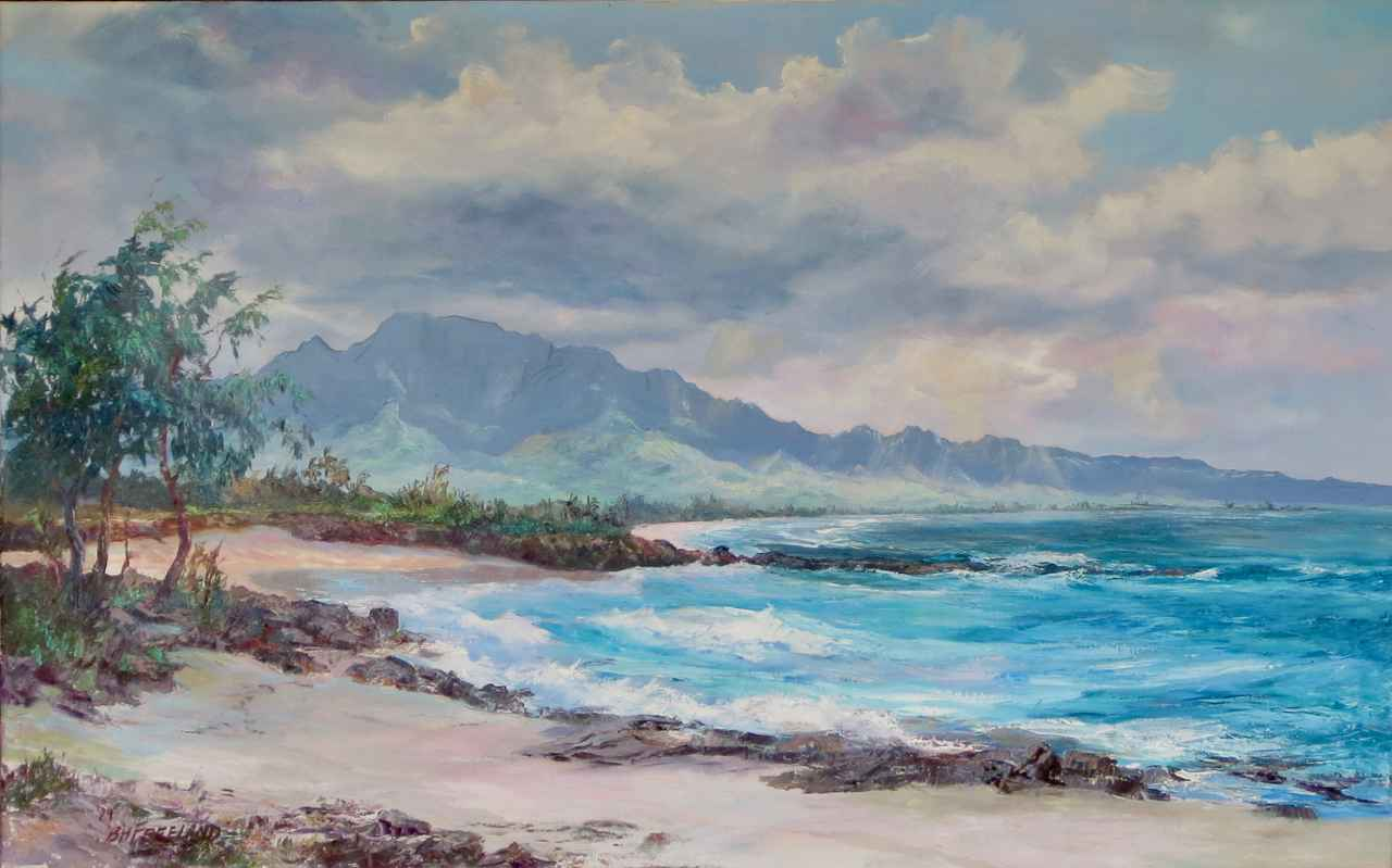 Mt. Ka'ala, Haleiwa, ... by  Betty Hay Freeland - Masterpiece Online
