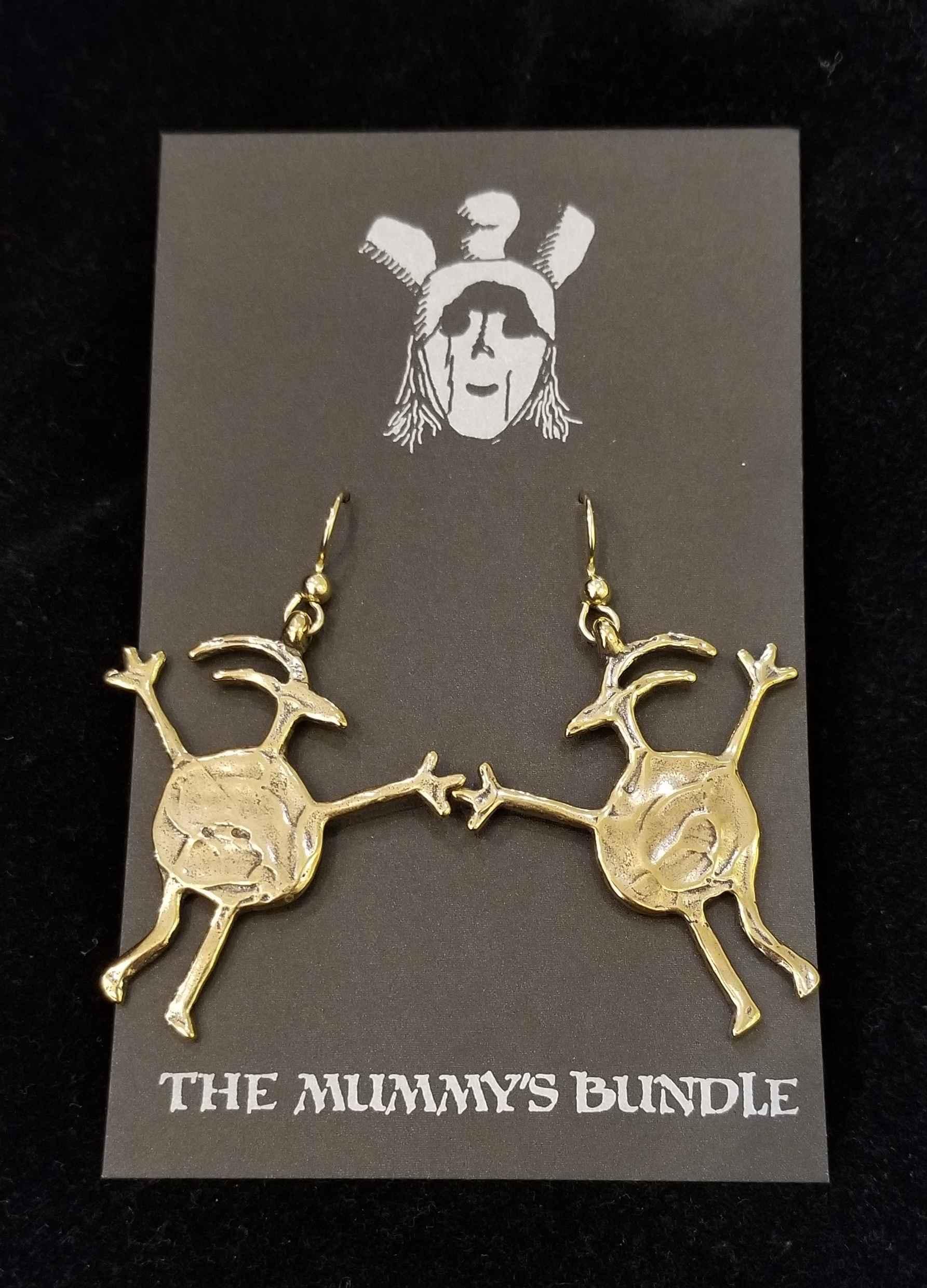 Sheepman Brass Earrin... by  Mummy's Bundle - Masterpiece Online