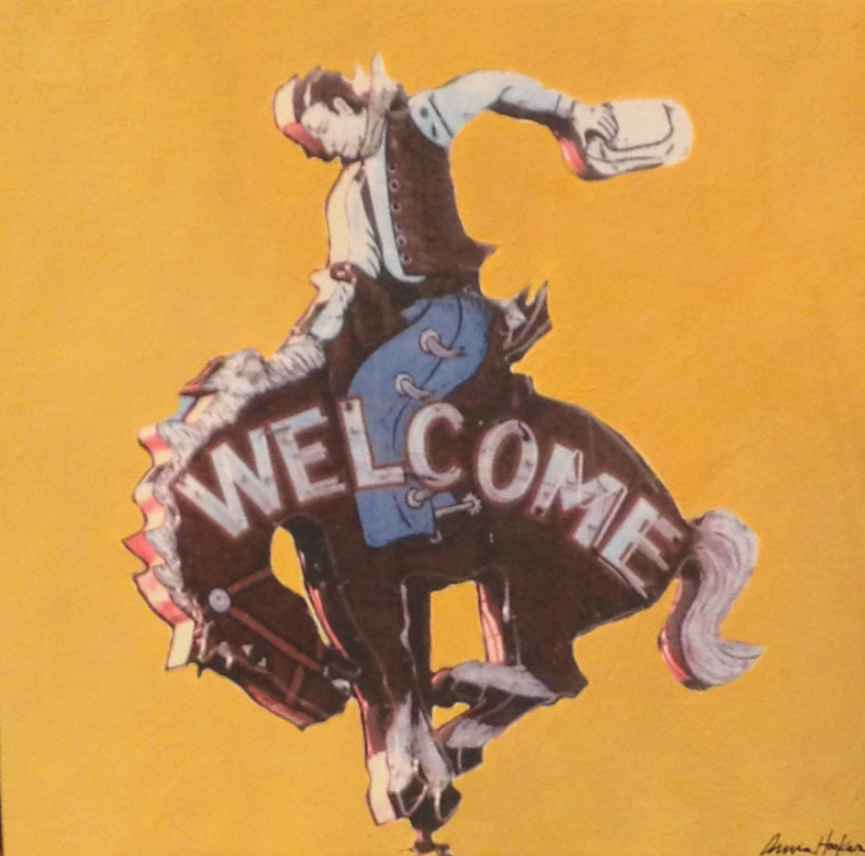 Welcom Sign (yellow)  by  Annie Hooker