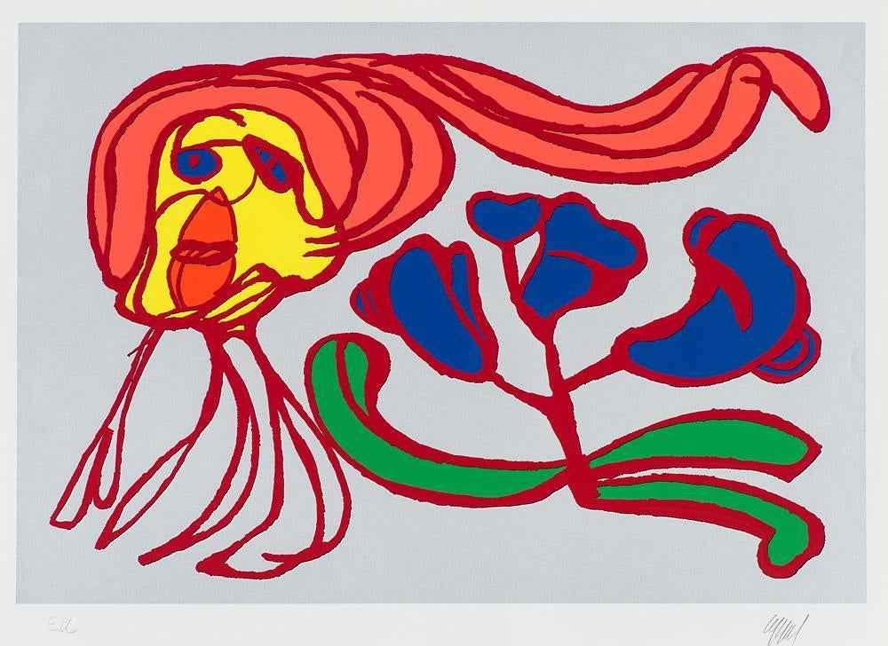 Floating Flower Passi... by  Karel Appel - Masterpiece Online