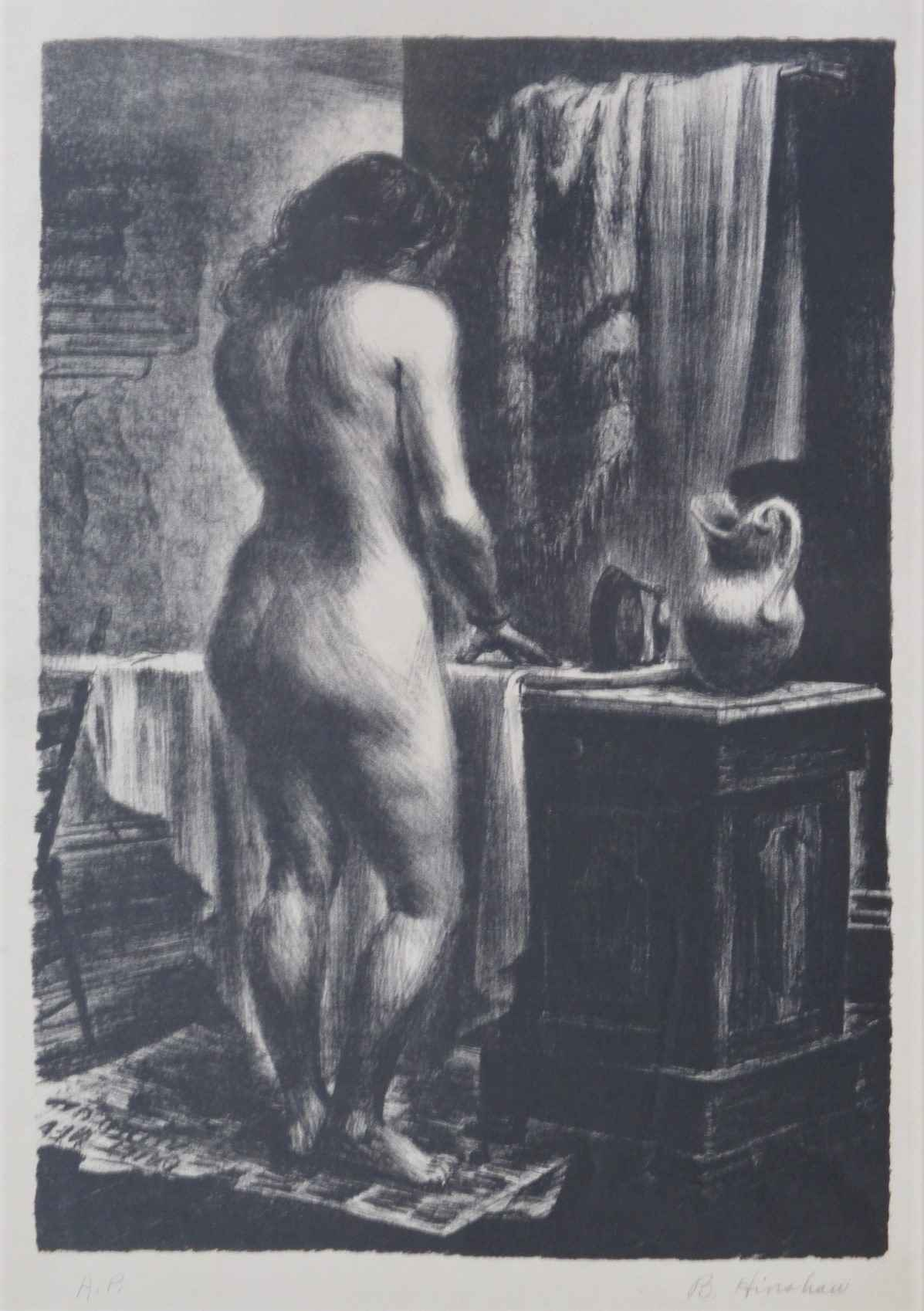 Unknown (Nude with pi... by  Bernard Hinshaw - Masterpiece Online