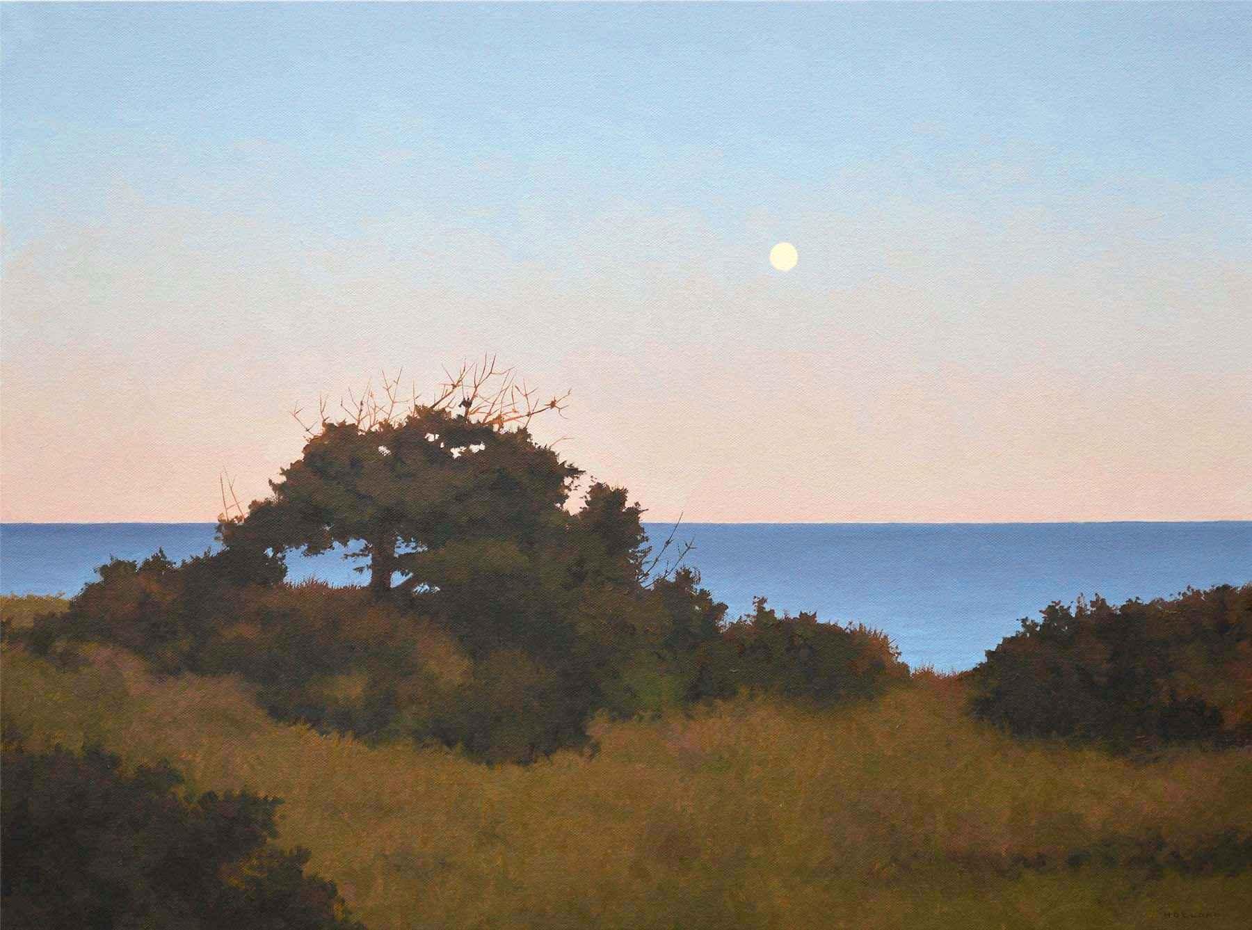 Seashore Moonrise by  Jim Holland - Masterpiece Online
