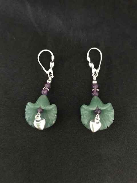 Jade and Silver Earri... by Mrs Larissa Hale - Masterpiece Online