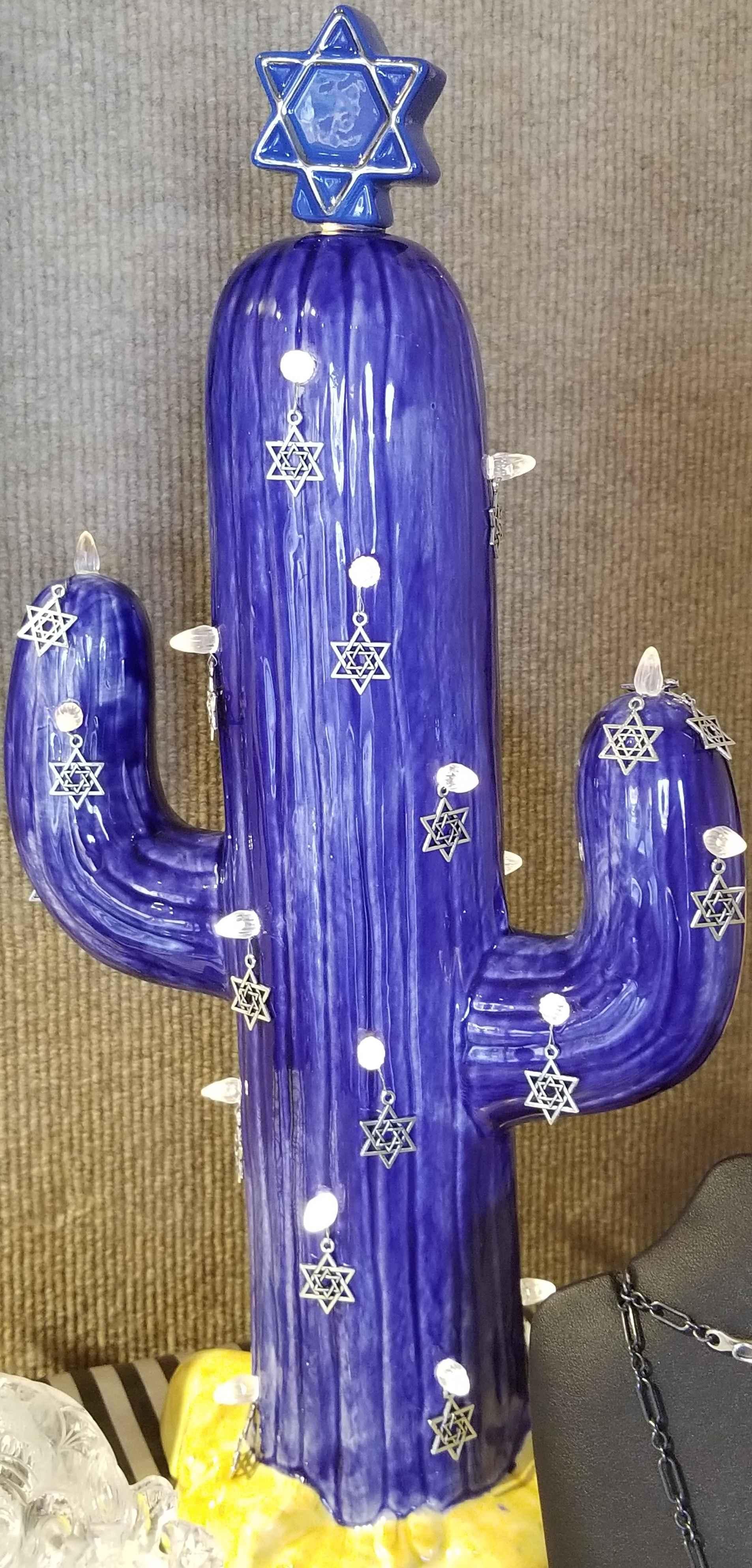 Hanukkah Cactus Lamp by  Joe Chaffee - Masterpiece Online