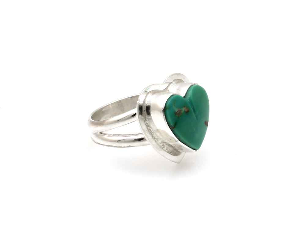 Turquoise Heart Ring by  Don Lucas - Masterpiece Online