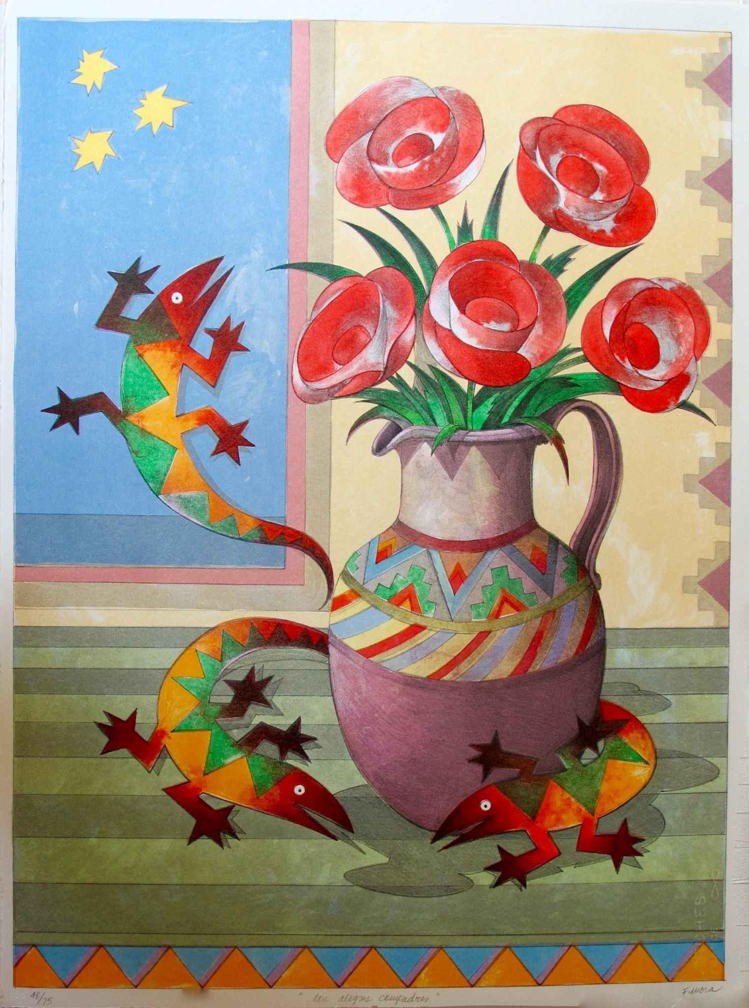 Los Alegres Compadres... by  Francisco X. Mora - Masterpiece Online