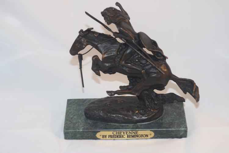 The Cheyenne by  Frederic Remington - Masterpiece Online