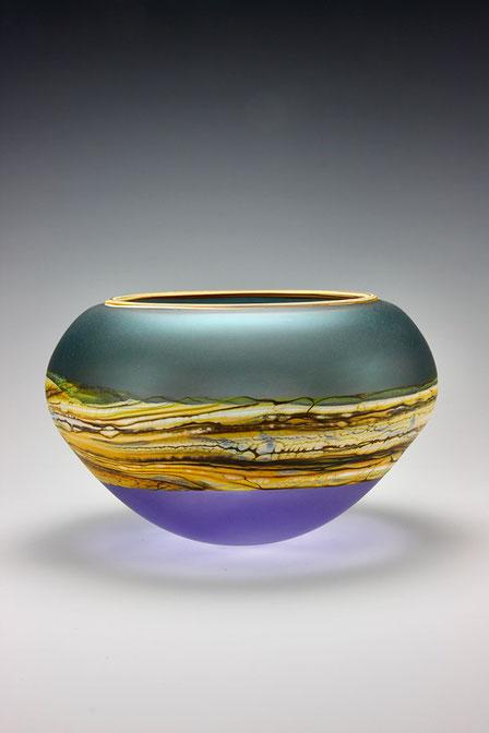Open Bowl in Sage Cobalt
