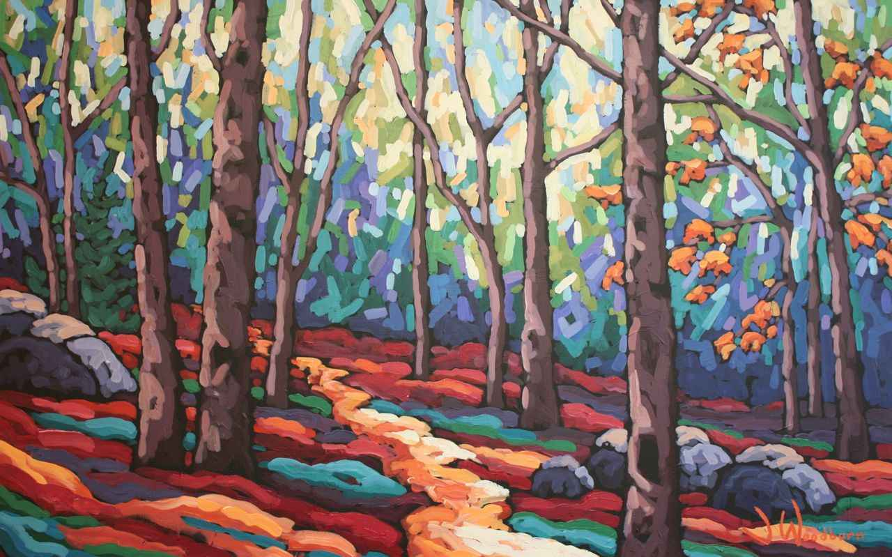 Down the Forest Path by Ms Jennifer Woodburn - Masterpiece Online