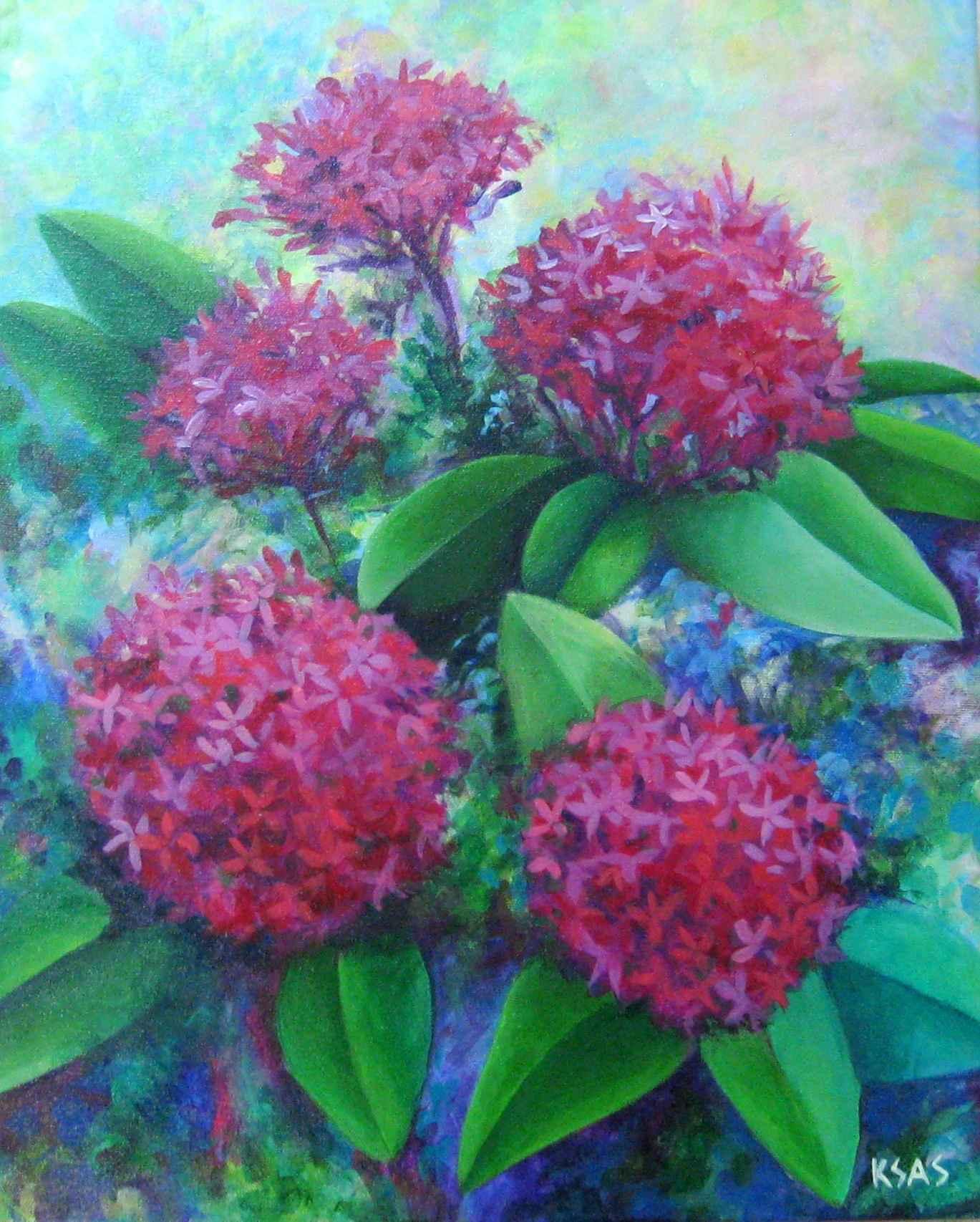 Pink Ixora by Ms. Kim Smith - Masterpiece Online