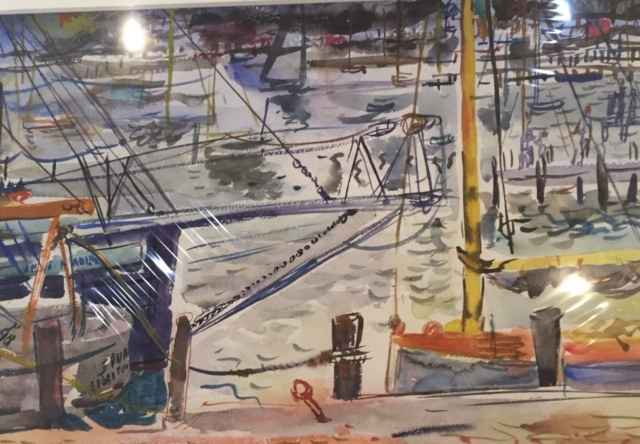 Untitled (Purple Ship) by  Francis Chapin - Masterpiece Online