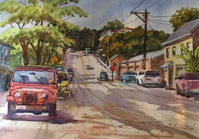 Red Jeep by  Ned Reade - Masterpiece Online