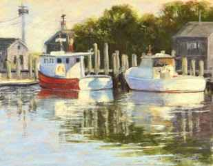 Menemsha Docks by  Anna L. Finnerty - Masterpiece Online