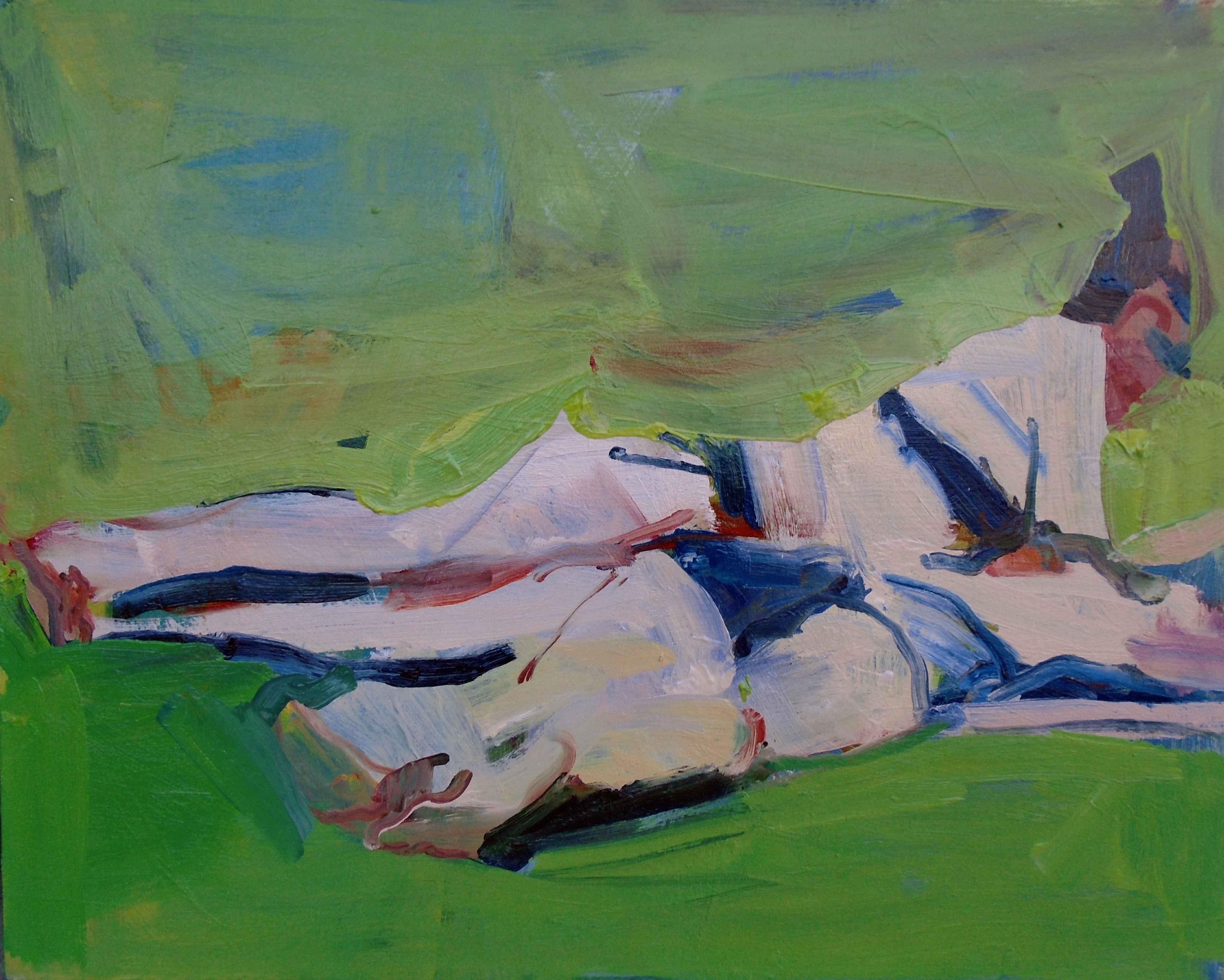 Women on the Lawn  by  Jennifer Pochinski