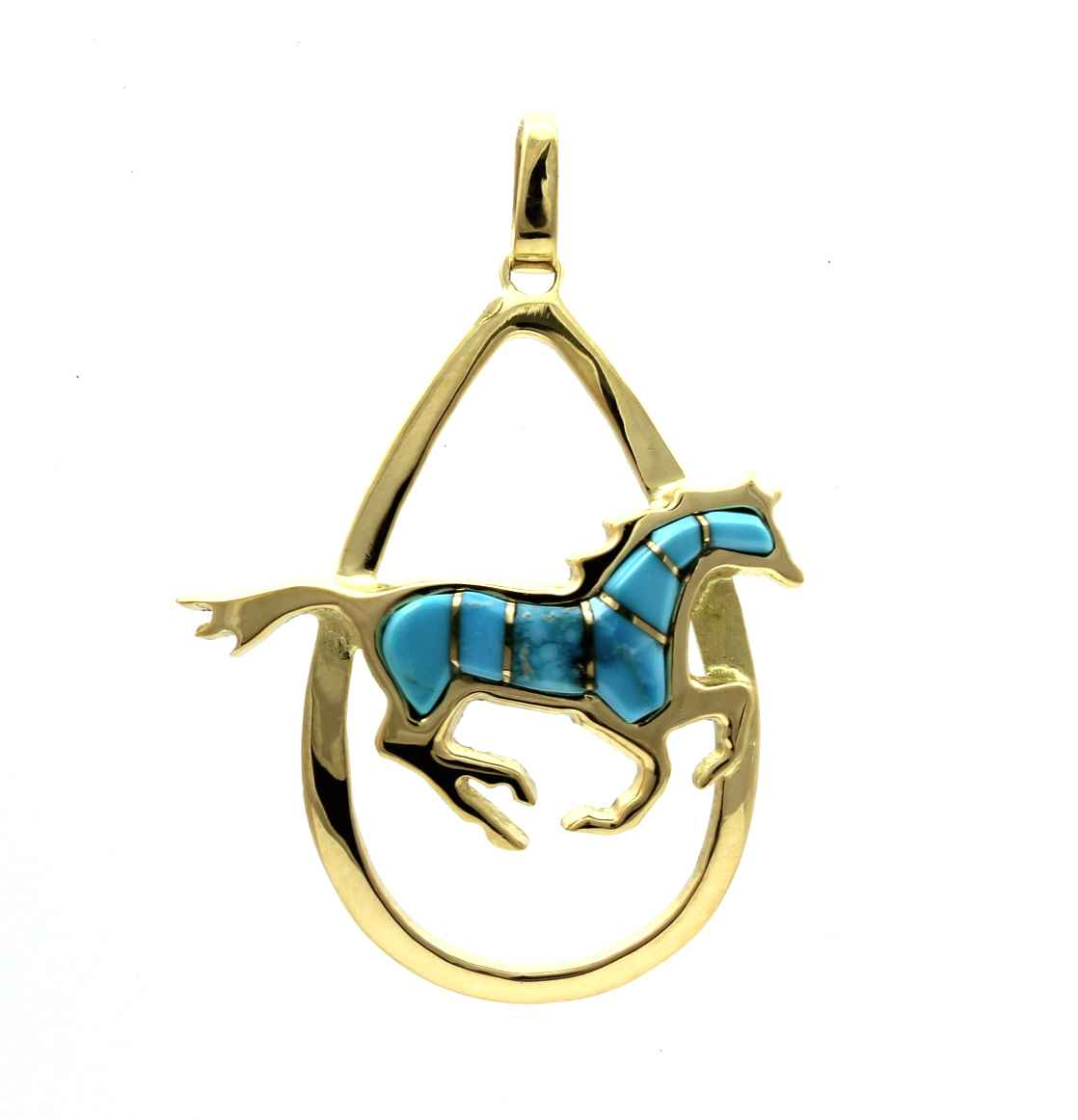 Running Horse Pendant by  Ben Nighthorse - Masterpiece Online