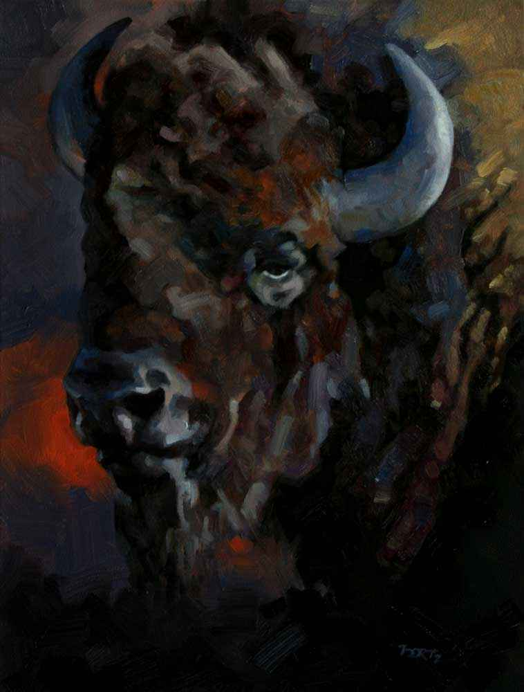 This is Headstrong by  Jim Bortz  art collection of Mountain Trails Gallery, Jackson represented by Mountain Trails Gallery, Jackson from Stoneboro, PA - Masterpiece Online