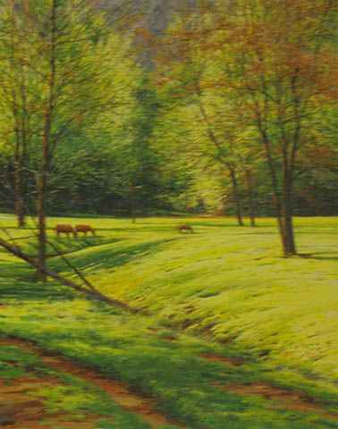 Horses, April Pasture by  Michael Wheeler - Masterpiece Online