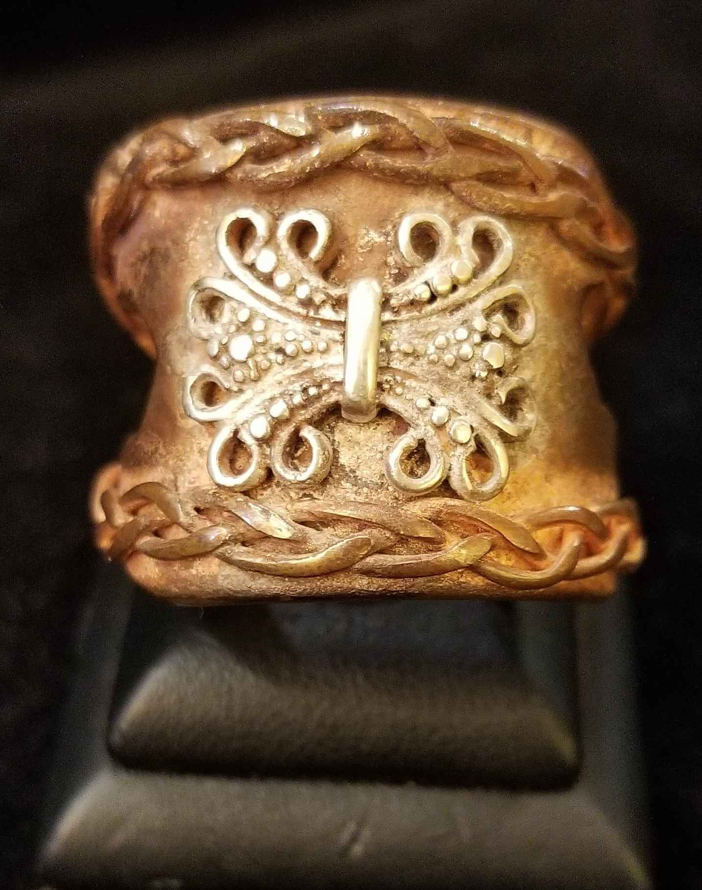 Ring - Copper w/Rope ... by  Aziah Poimandres - Masterpiece Online