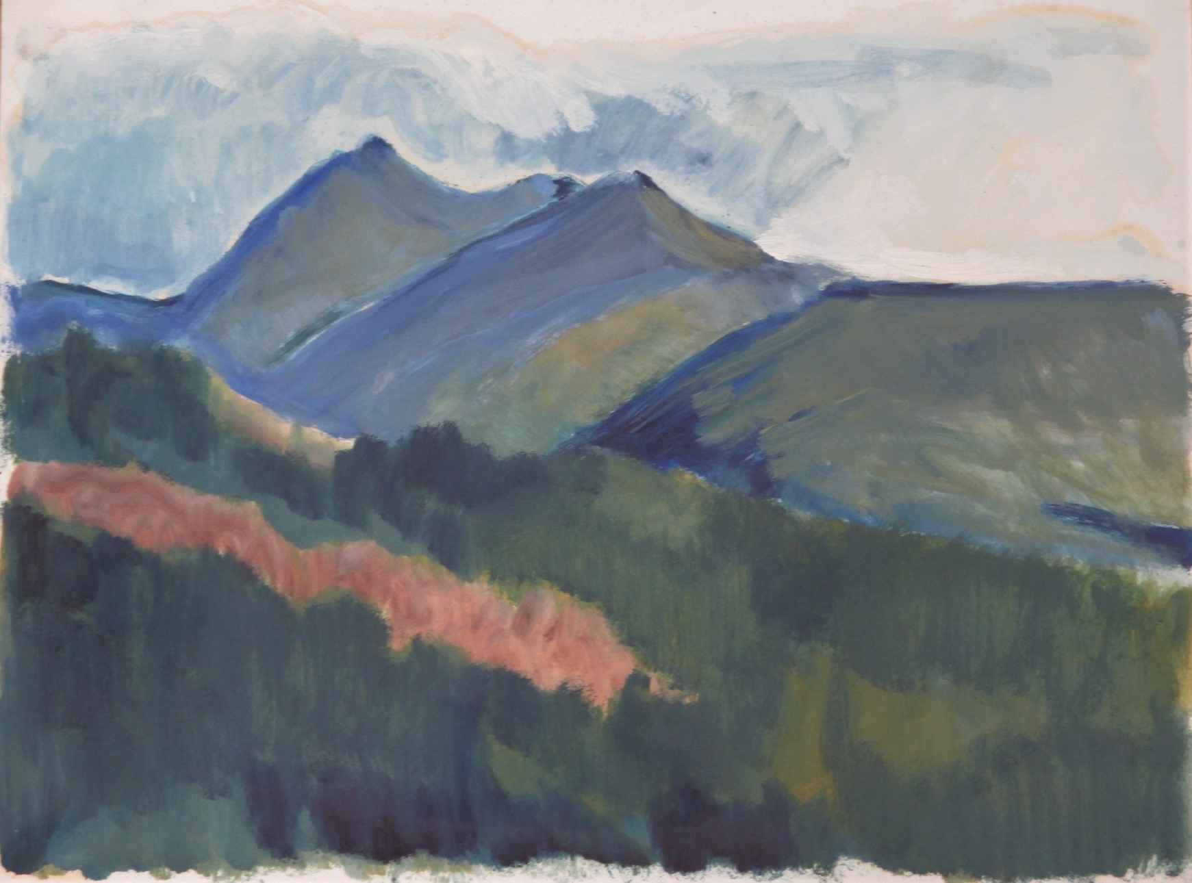 Untitled  (mountains ... by  Shirley Gittelsohn - Masterpiece Online