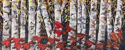Night Birch 183365 by  Maya Eventov - Masterpiece Online