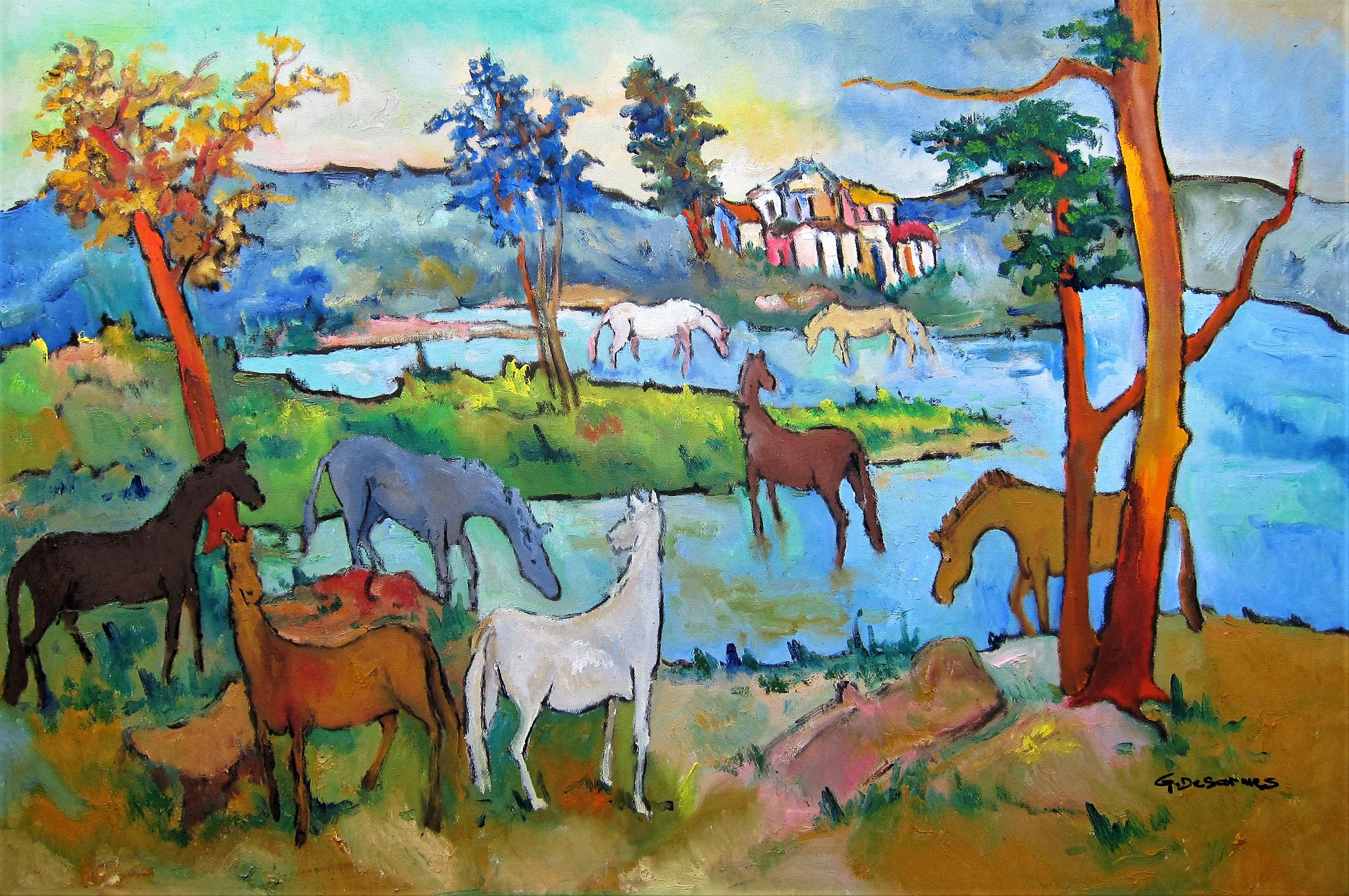 The Horses by  Georges DESARMES - Masterpiece Online