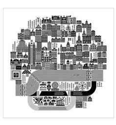 KBE - Montreal Map \ ... by  Raymond Biesinger - Masterpiece Online