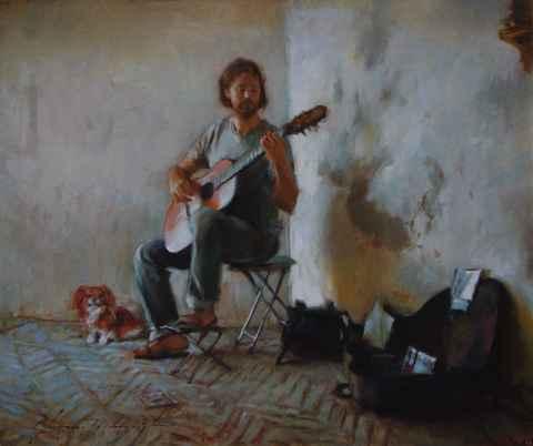 Guitarist, Seville  by  Glenn Harrington