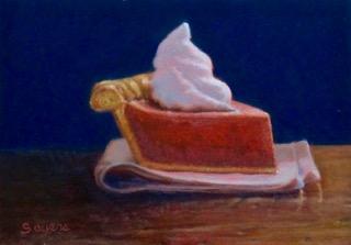 Pumpkin Pie with Swirl of Cream