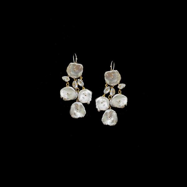 Silver Dollar Chandelier Wire Earrings