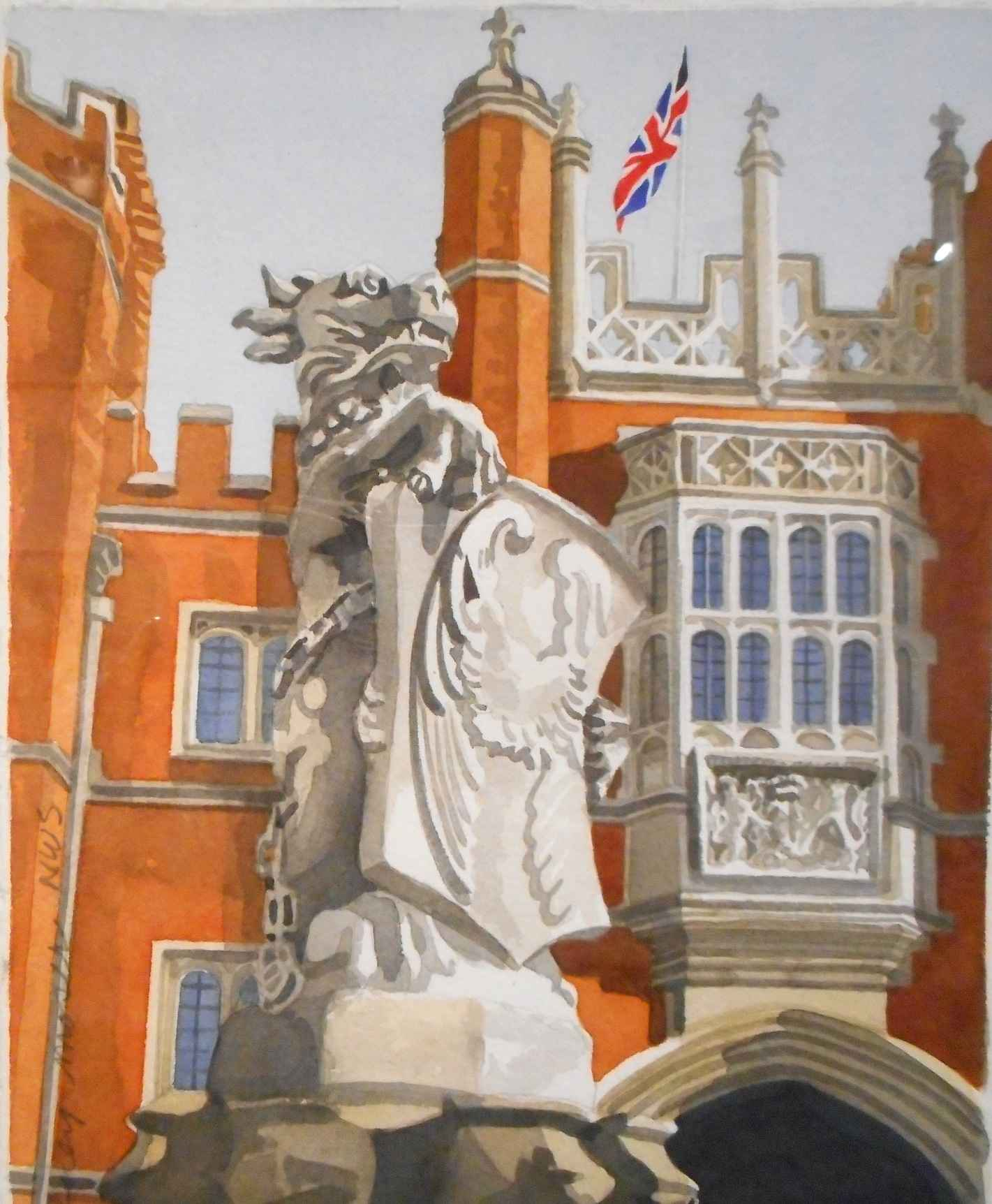 Cotswold Court Lion by  Rodney Moser - Masterpiece Online