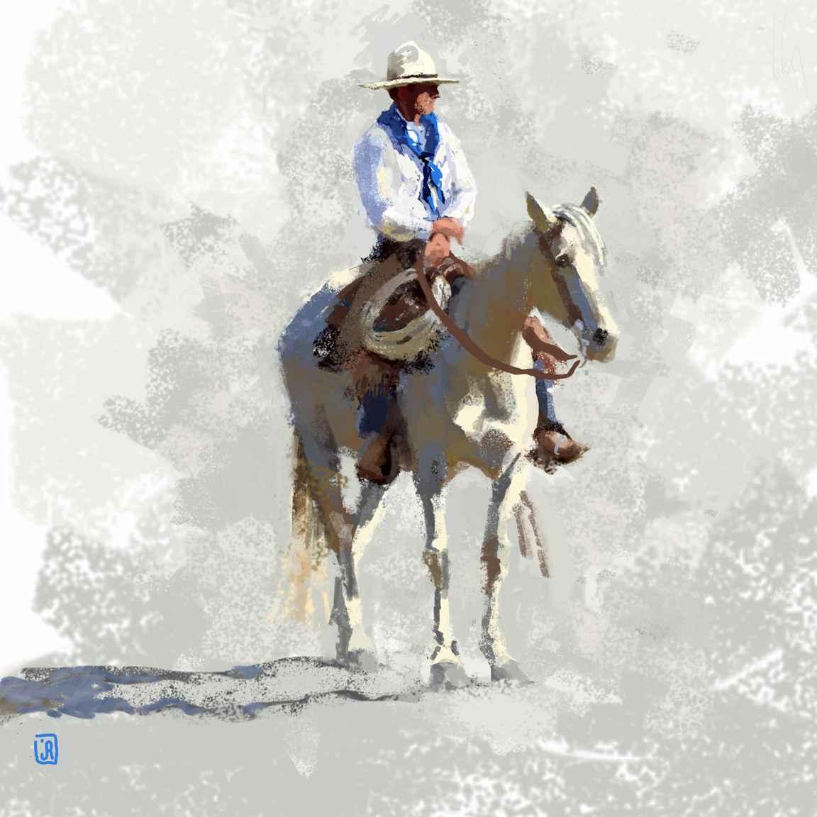 Blue Bandana AL (LG) by Mr. & Mrs. Jim Rey - Masterpiece Online