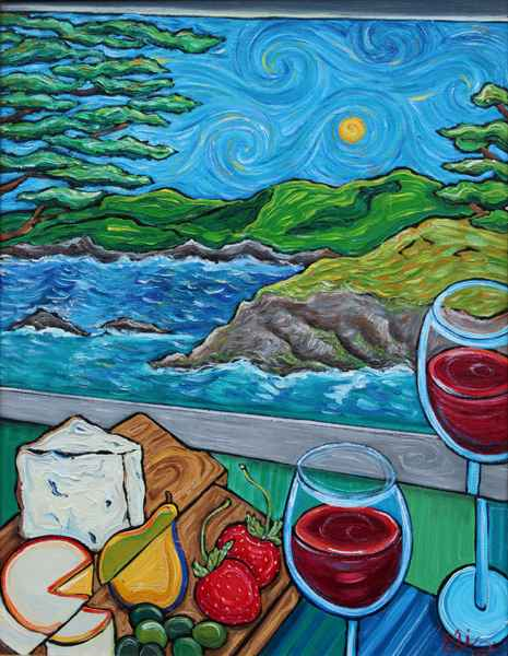 A Glimpse of Big Sur  by  Elizabeth Jackson