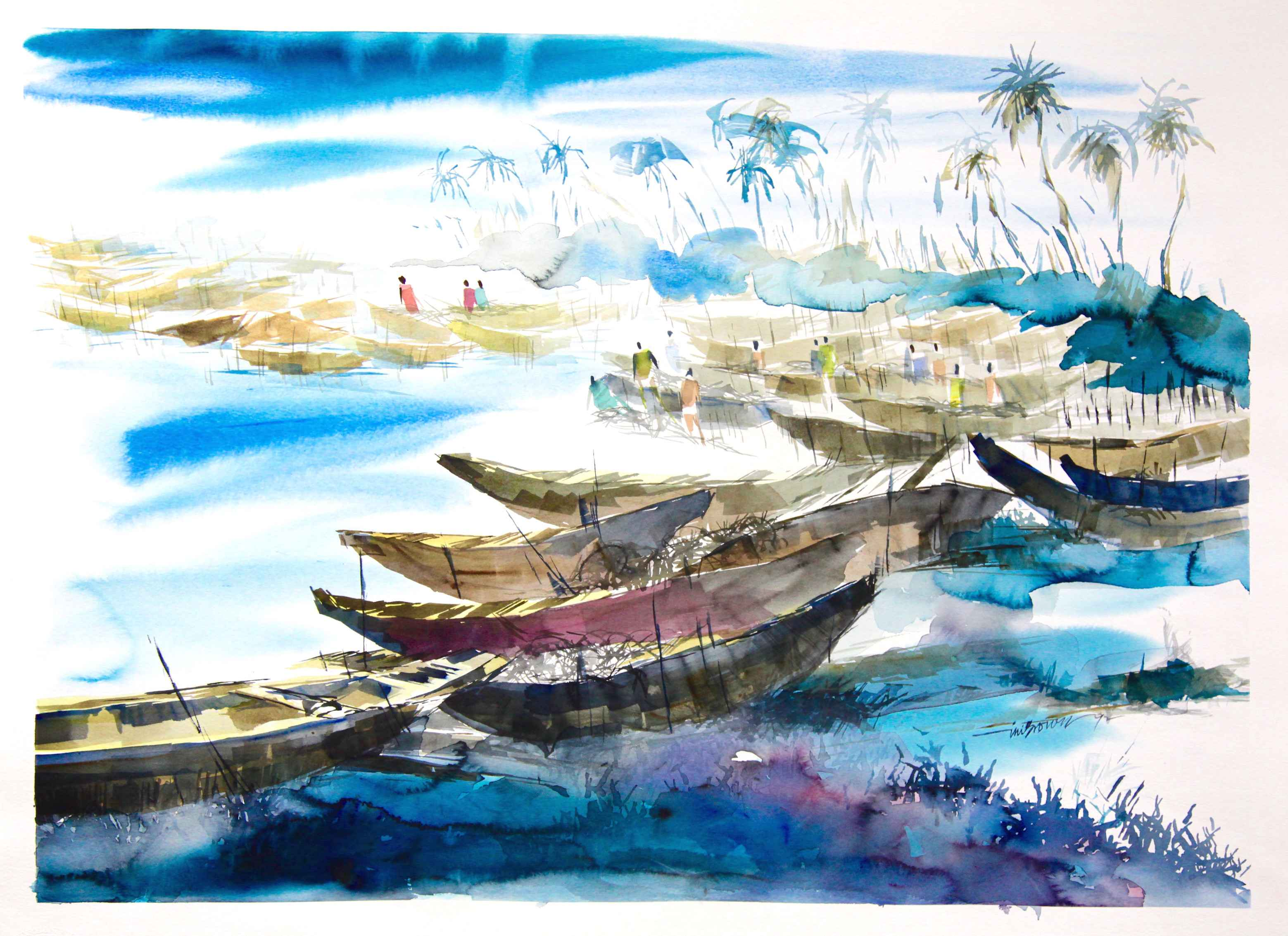 By the Banana Boats by Mr Ini Brown - Masterpiece Online