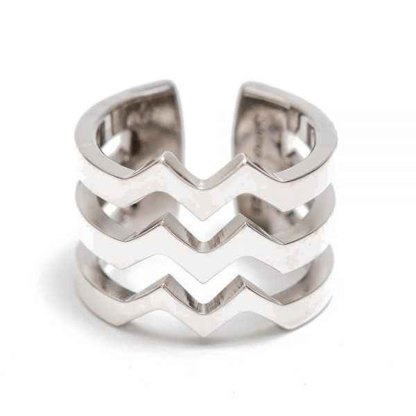 M Strata Silver Ring by Ms. Maria Samora - Masterpiece Online