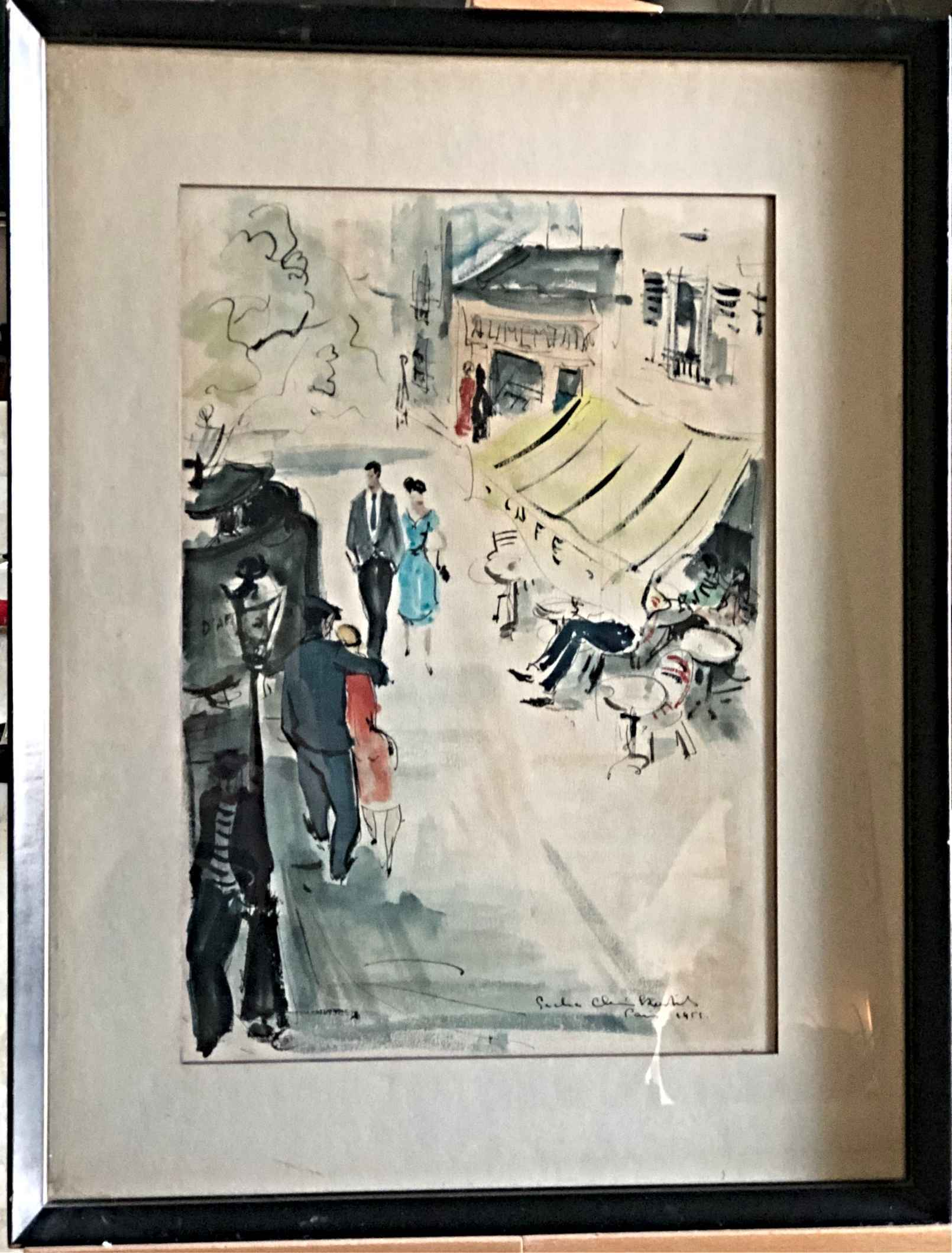 Untitled, Stroll in P... by  Sacha Chimkevitch - Masterpiece Online
