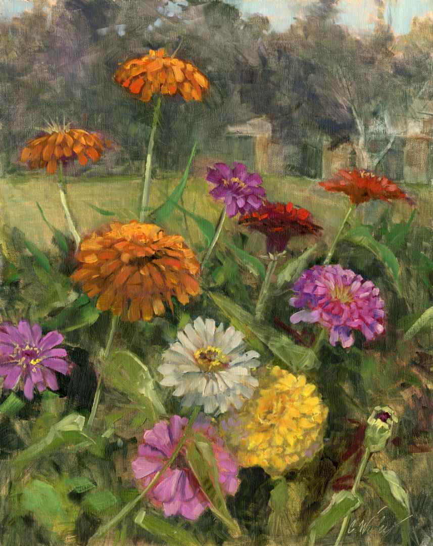 Zinnia Cacophony by  Chris Willey - Masterpiece Online
