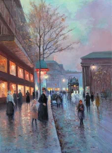 Boulevard De La Madel... by  Roger  Budney - Masterpiece Online