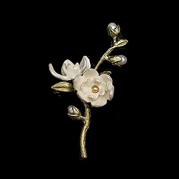 Magnolia Flower Statement Brooch