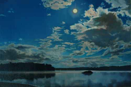 Moon and Clouds by  Kathleen Kolb - Masterpiece Online