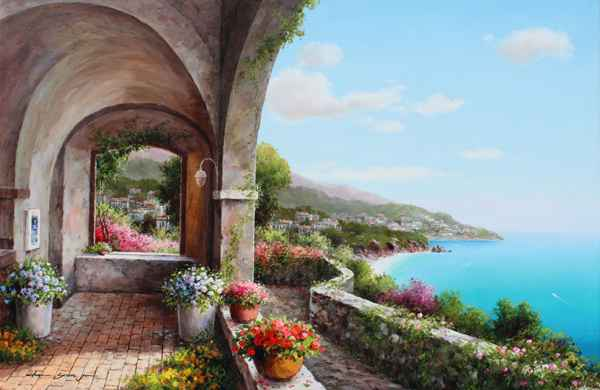 Patio View by  Soon Ju Choi  - Masterpiece Online